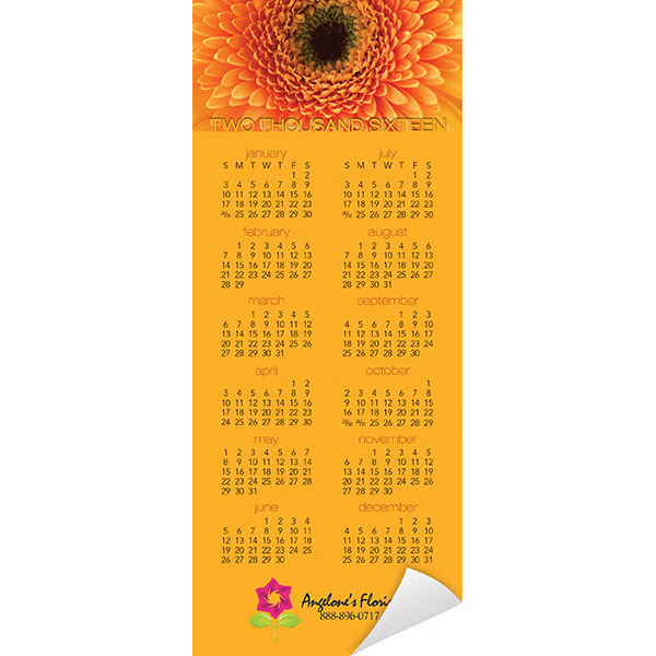 Custom Economy Collection Floral Magnetic Calendar