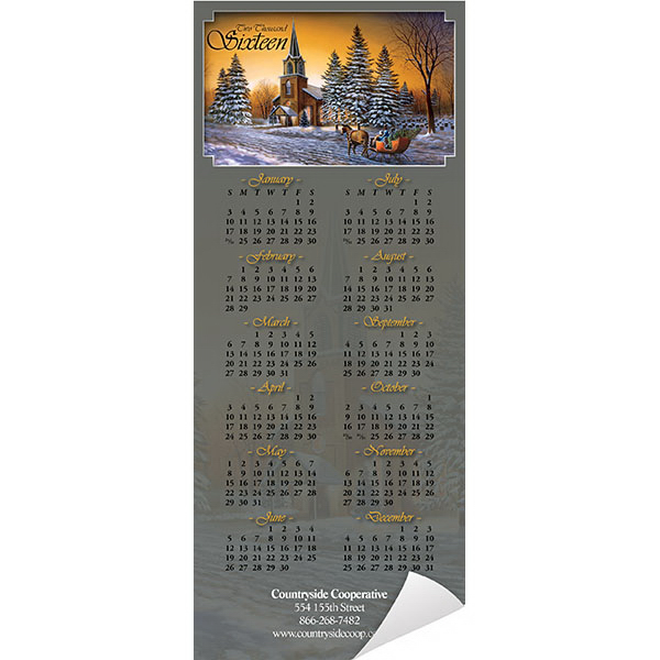 Personalized Economy Collection Christian Magnetic Calendar