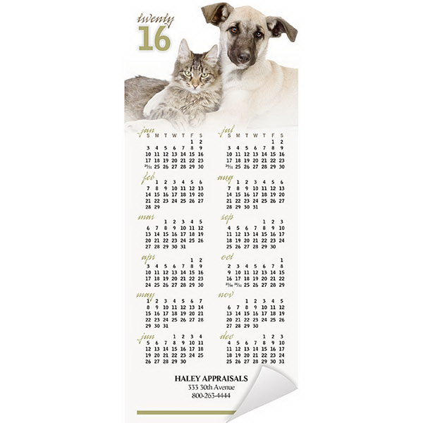 Custom Economy Collection Cats and Dogs Magnetic Calendar