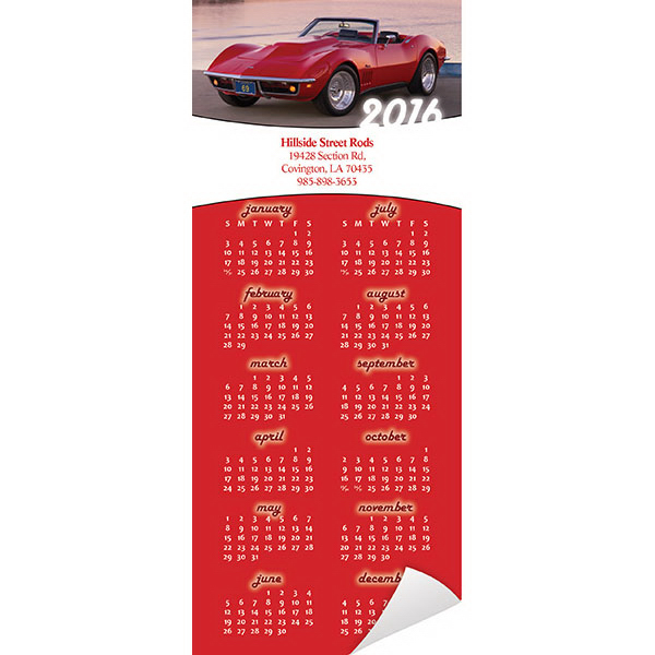 Printed Economy Collection Magnetic Muscle Car Calendar