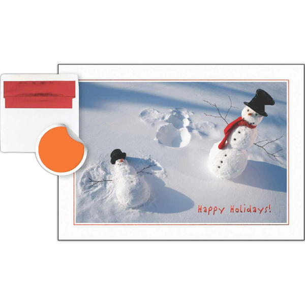 Personalized Holiday Snowman Fun Greeting Card