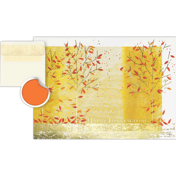 Imprinted Colors of Autumn Greeting Card