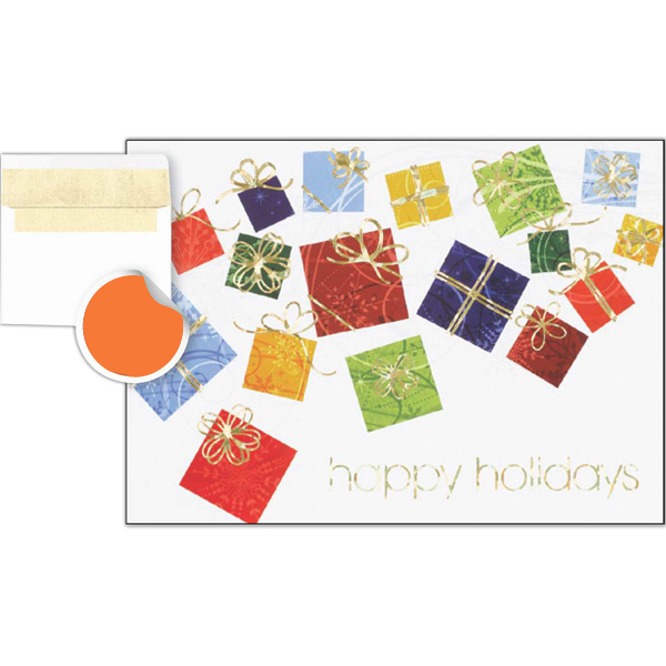 Customized Colorful Gift Box Collection Greeting Card