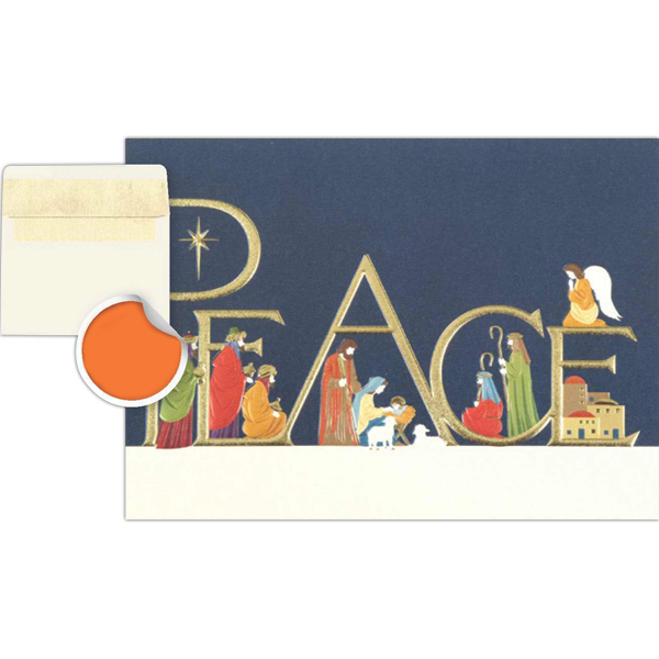 Imprinted Peace Nativity Greeting Card