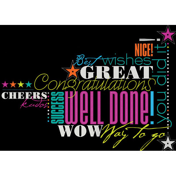 Promotional Words of Encouragement Greeting Card