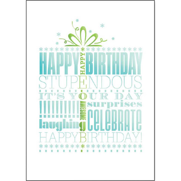 Printed Awesome Birthday Greeting Card