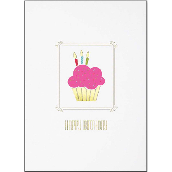 Printed Cupcake Birthday Greeting Card