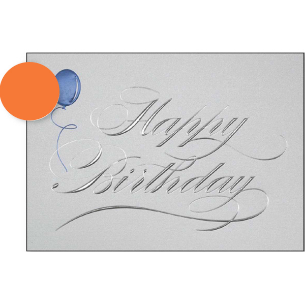 Promotional Silver Happy Birthday Greeting Card