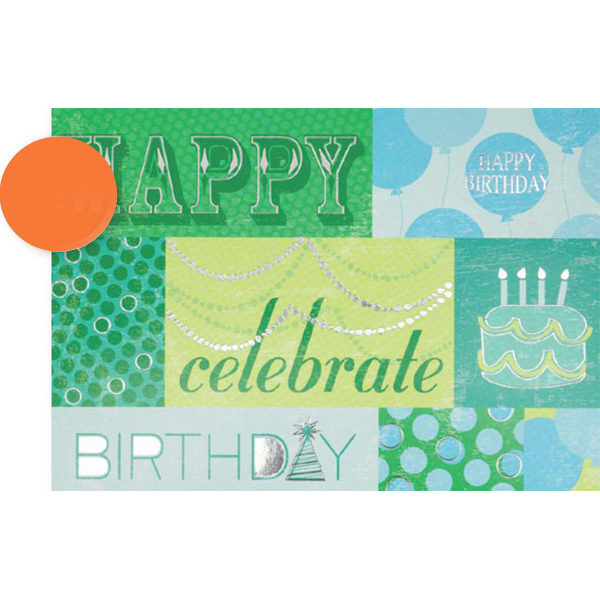 Customized Happy Birthday Celebrate Greeting Card