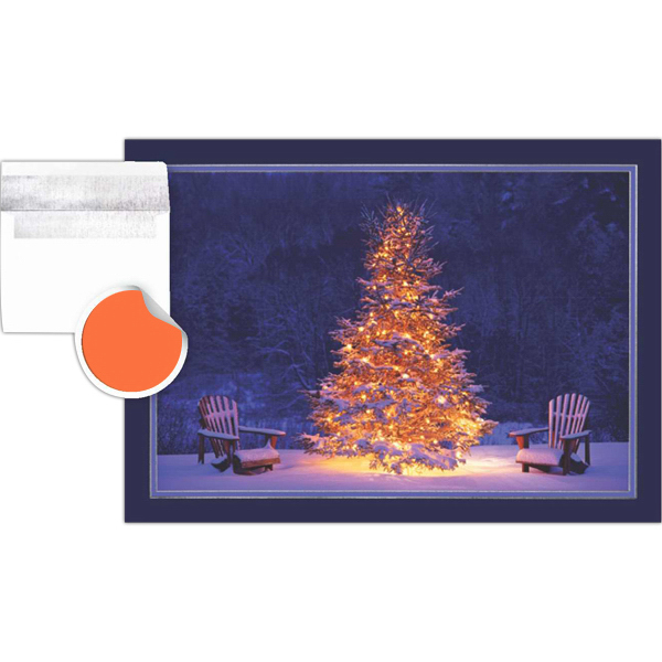 Imprinted Lighted Holiday Tree Greeting Card