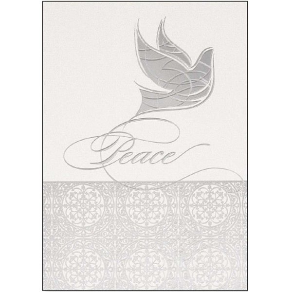 Promotional Iridescent Peace Dove Greetings Card