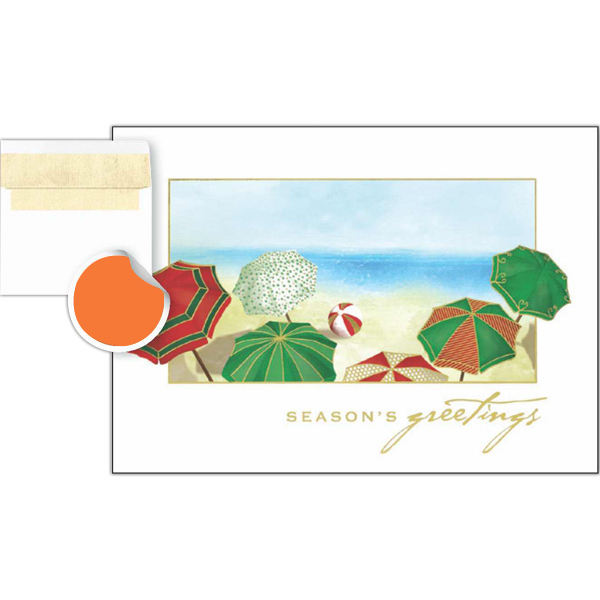 Printed Umbrella Greetings Card