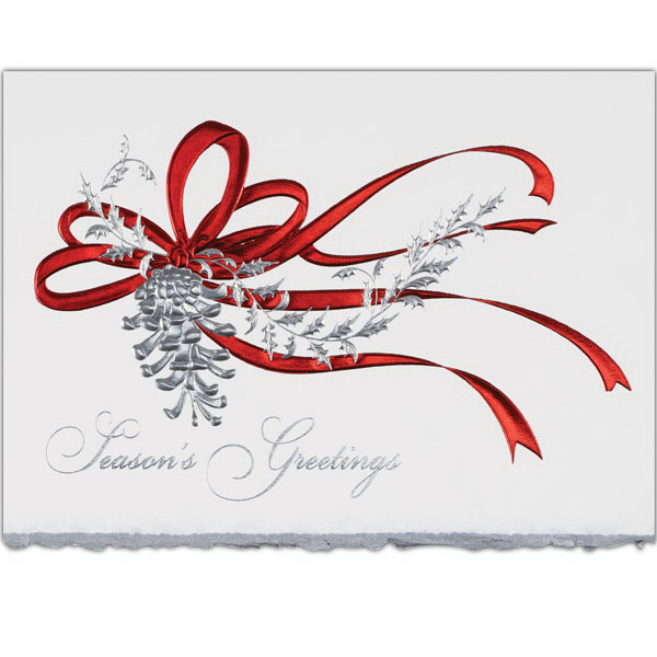 Personalized Red Ribbon Greeting Card