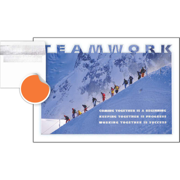 Imprinted Teamwork Greeting Card