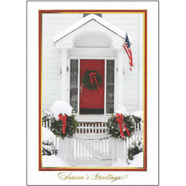 Customized Holiday Doorway Greeting Card