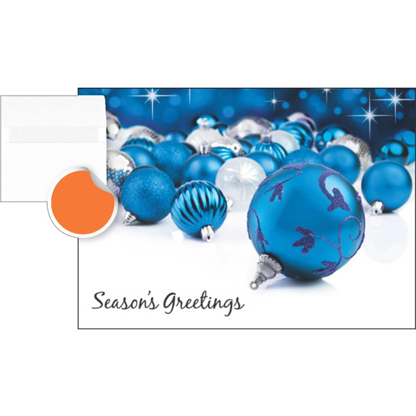 Custom Blue Ornaments Greeting Card