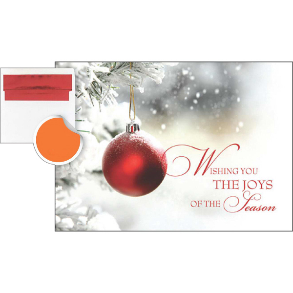 Promotional Single Red Ornament Greeting Card