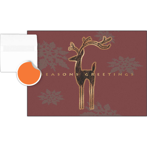 Customized Seasons Greeting Deer Greeting Card