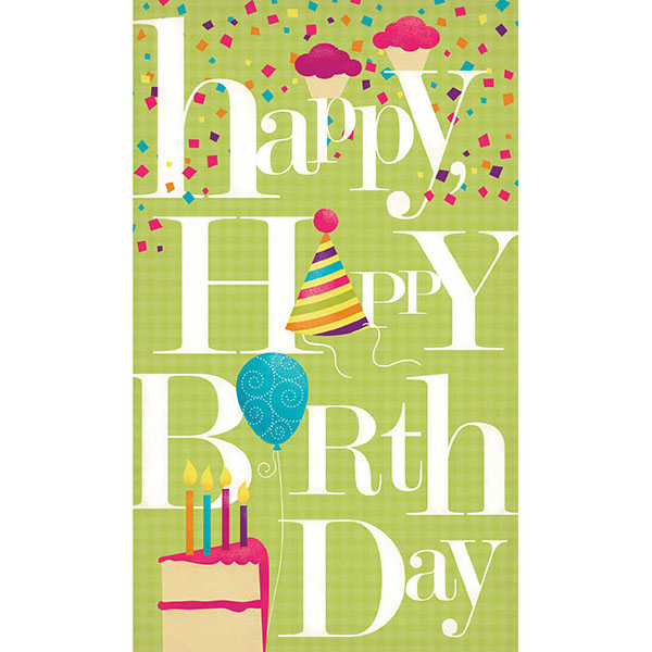 Custom Happy Happy Birthday Greeting Card