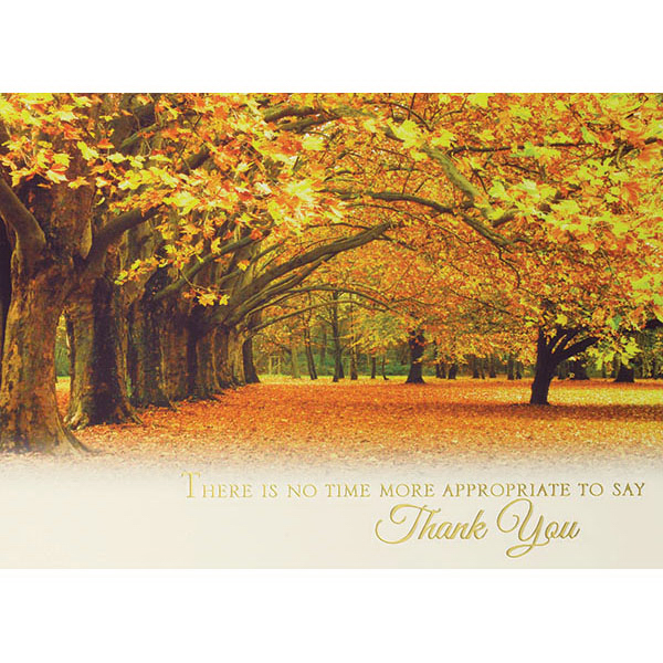 Custom Autumn in the Park Greeting Card