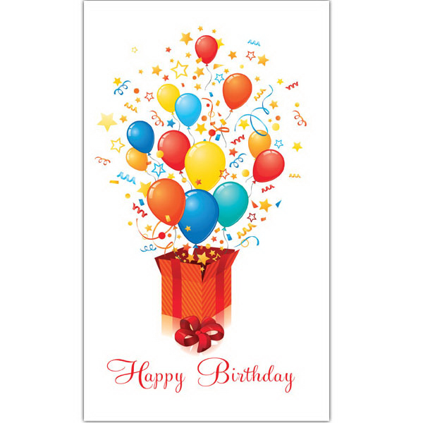 Custom Exploding Balloons Greeting Card