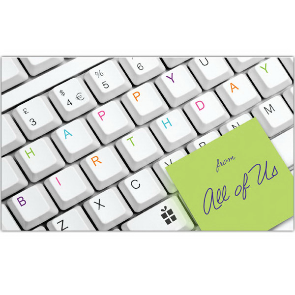 Personalized Keyboard Birthday Greeting Card