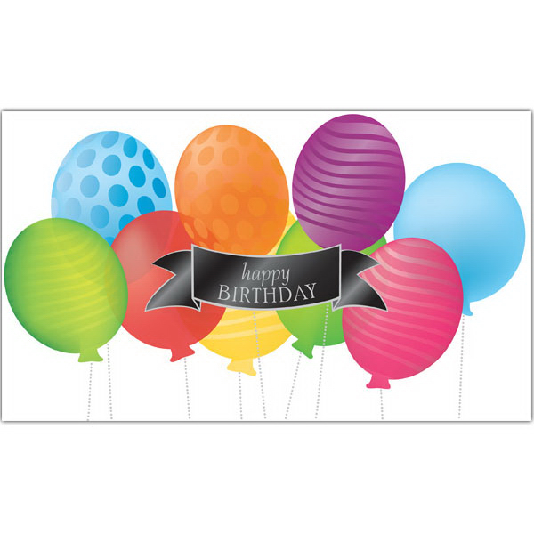 Printed Balloon Party Birthday Greeting Card