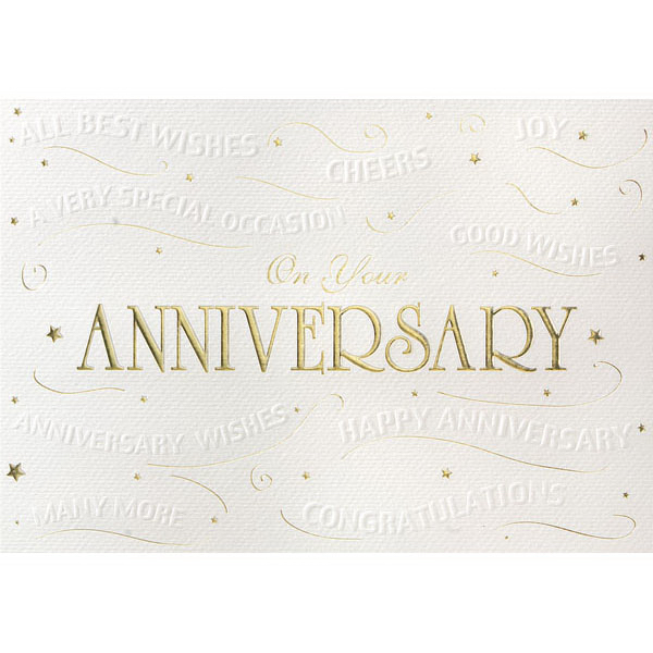Customized Embossed Anniversary Wishes Greeting Card