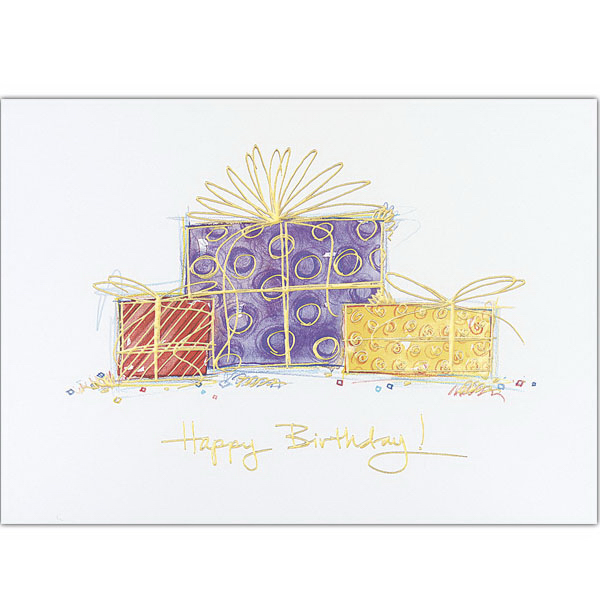 Promotional Happy Birthday Gifts Greeting Card