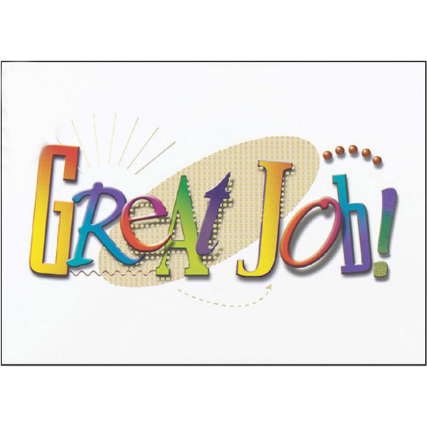 Printed Great Job Greeting Card