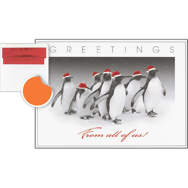 Customized Penguin Greetings Card
