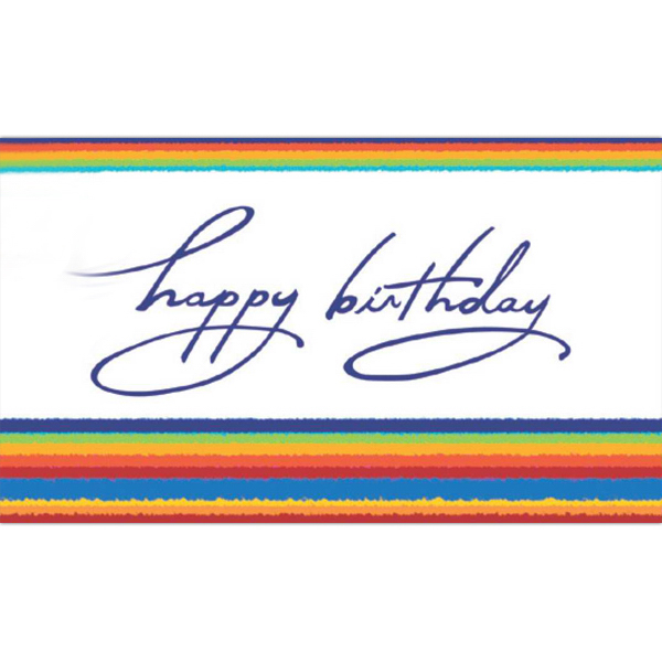 Printed Tye Dye Birthday Greeting Card