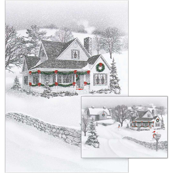 Custom A Holiday At Home Greeting Card