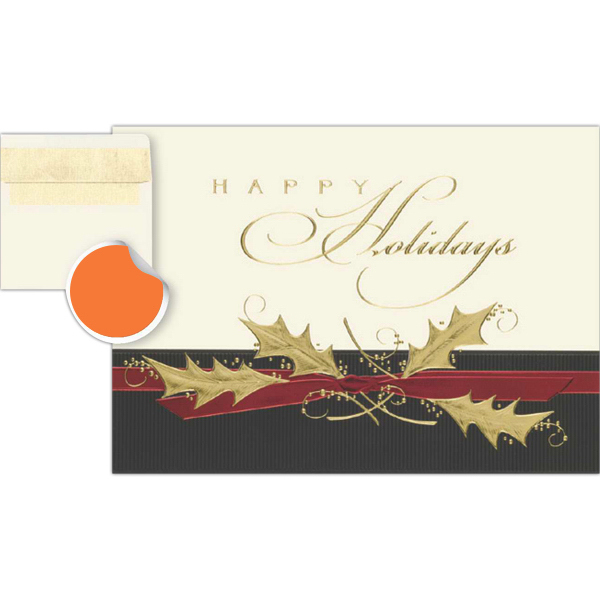 Personalized Textured Happy Holidays Greetings Card