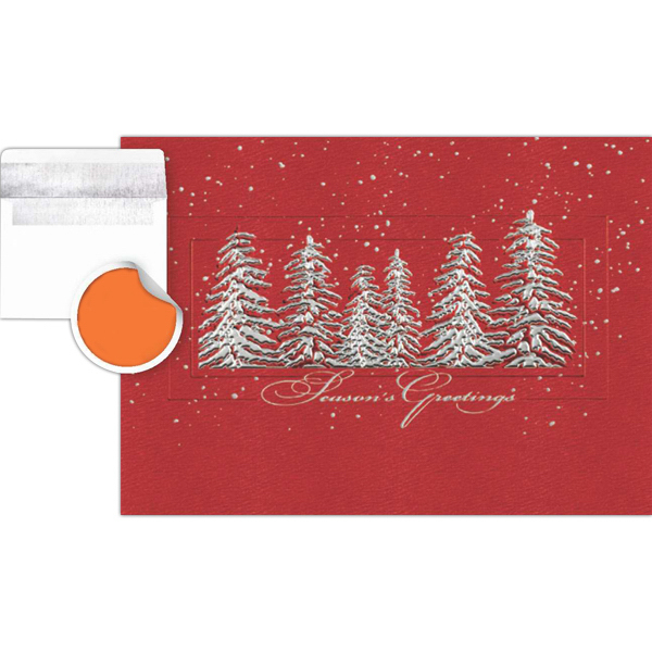 Customized Silver Treeline Greeting Card
