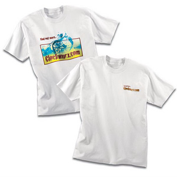 Printed Gildan (R) hdi Adult White T-Shirt