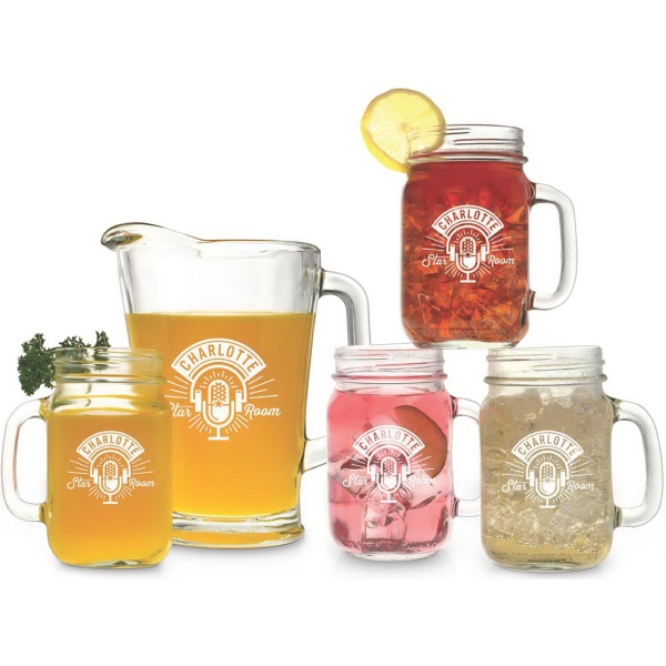Customized Pitcher and Handled Jar Set