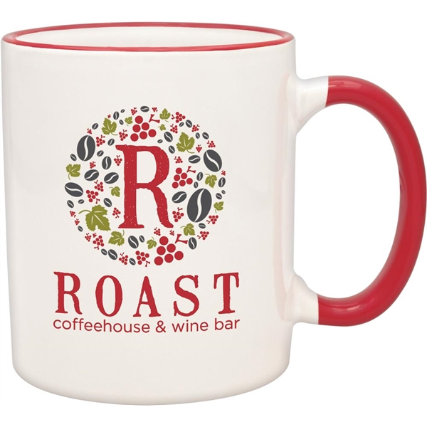 Custom Red Duo-Tone Collection Mug