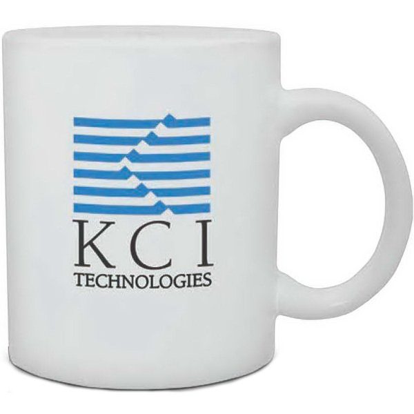 Imprinted White Ceramic Mug