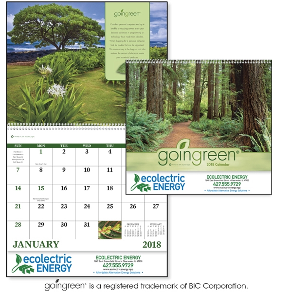 Personalized GoinGreen (R) Spiral Appointment 13 Month Calendar