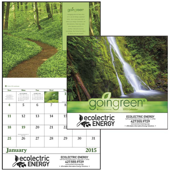Personalized GoinGreen (R) Staped Appointment 13 Month Calendar