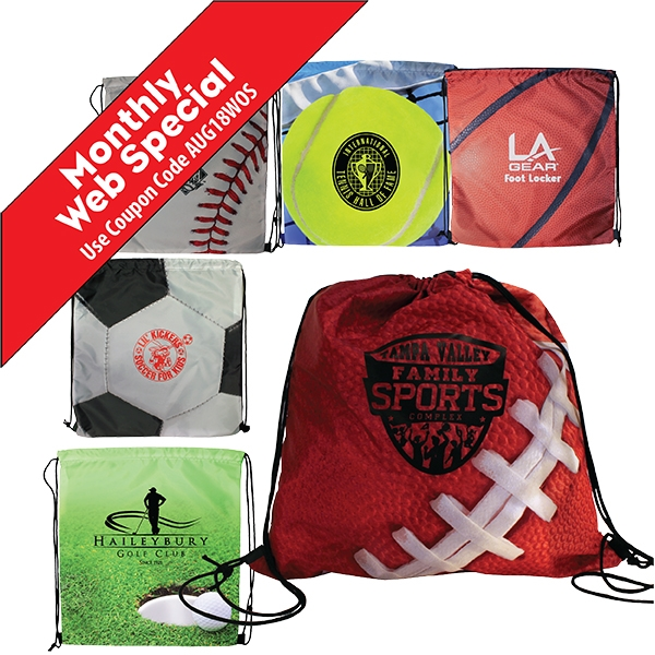 Custom Sports Style Drawstring Backpack