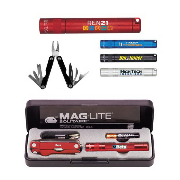 Personalized K3A Mag-Lite (R) Solitaire, 1AAA & Multi-Function Tool