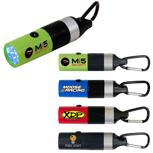 Imprinted Carabiner LED flashlight, full color