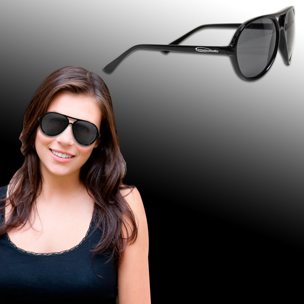 Custom Plastic Frame Aviator Sunglasses