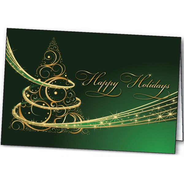 Personalized Holiday Magic greeting card