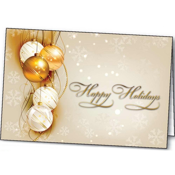 Customized Shining Holiday greeting card