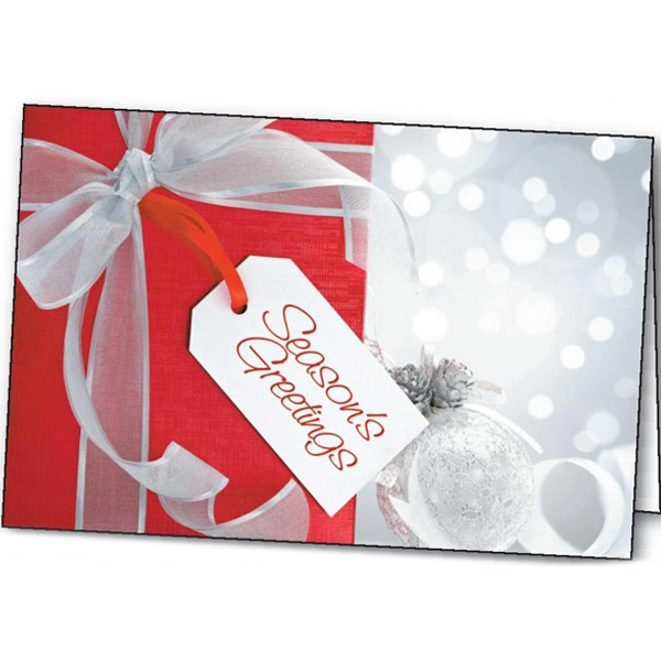 Personalized Holiday Surprise greeting card