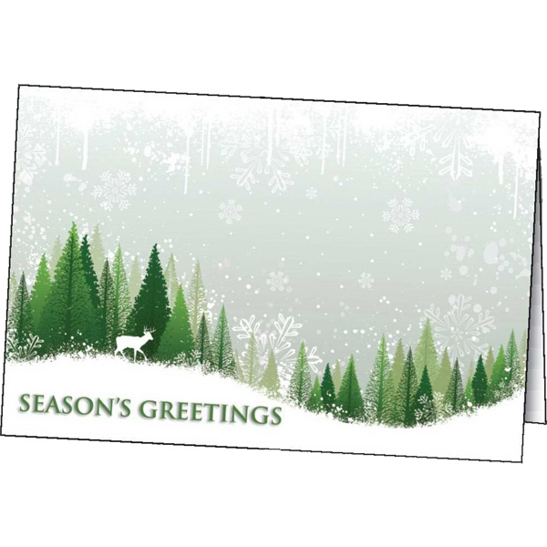 Printed Season's Wonder greeting card