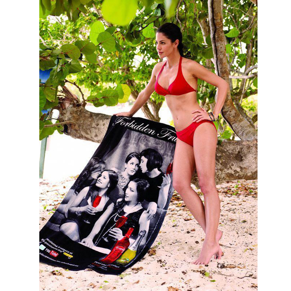 Promotional Custom Fiber Reactive Beach Towel